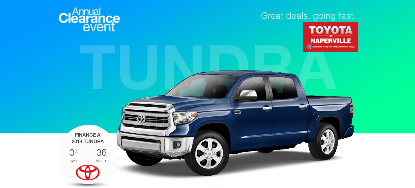 continuing the Toyota Annual Clearance Event